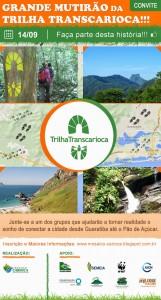 Flyer do Mutirao da Trilha Transcarioca - 14.09.2014